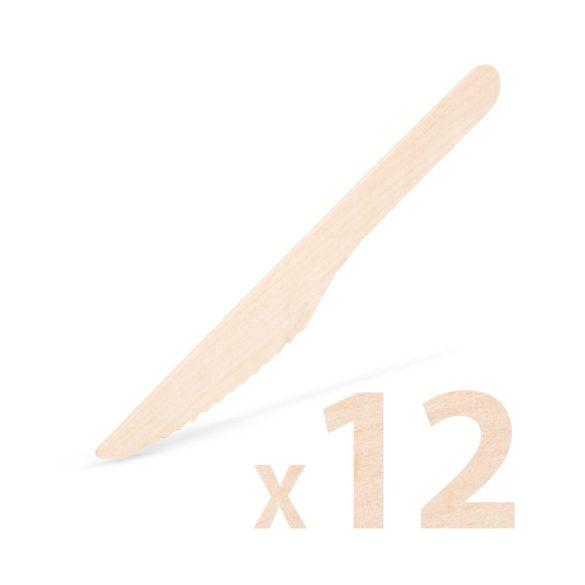 12 darabos fa evőeszköz szett – Kés