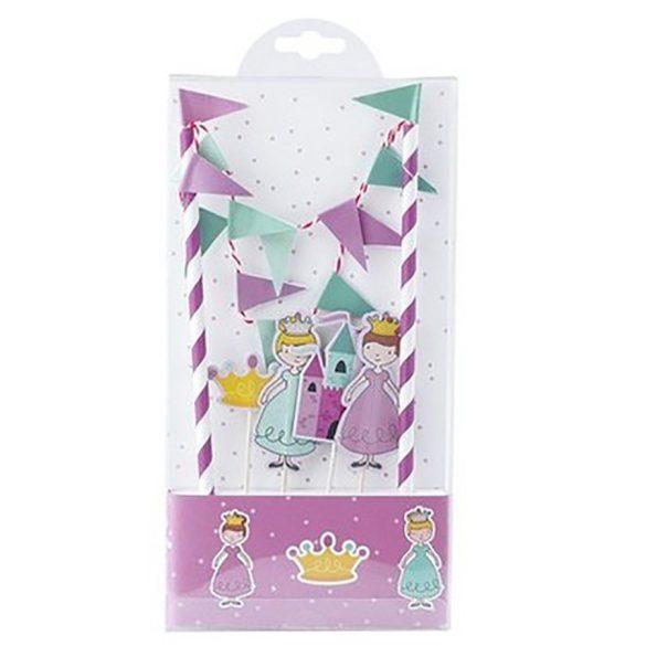 Papír torta dekoráció – Hercegnők