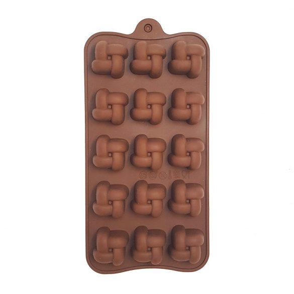 Szilikon bonbon forma – Fonott kocka