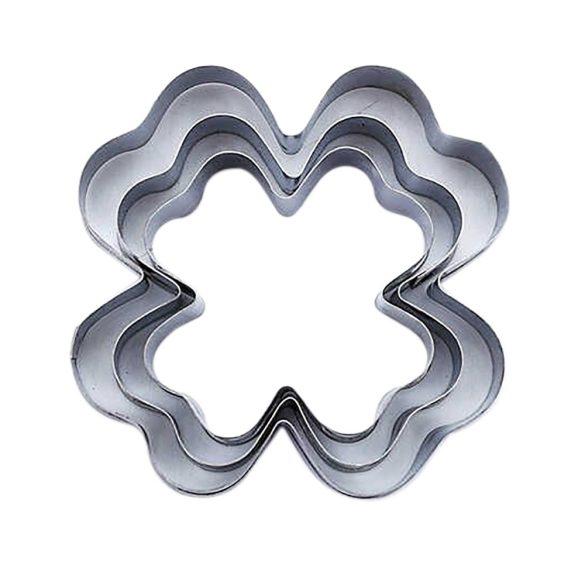 3 darabos fém süteménykiszúró – Négylevelű lóhere