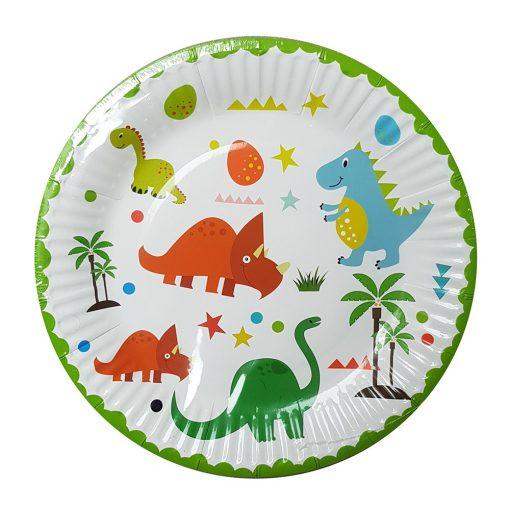10 darabos papír tányér – Dinoszauruszok