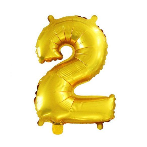 Arany színű szám fólia lufi - 2