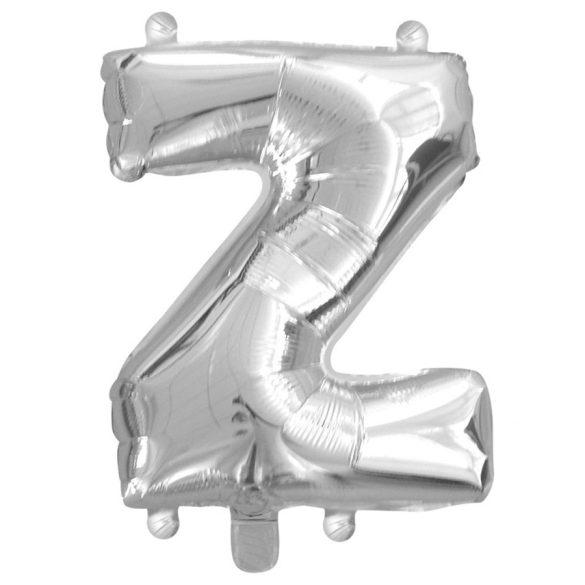 Ezüst színű, betű alakú fólia lufi, léggömb – Z