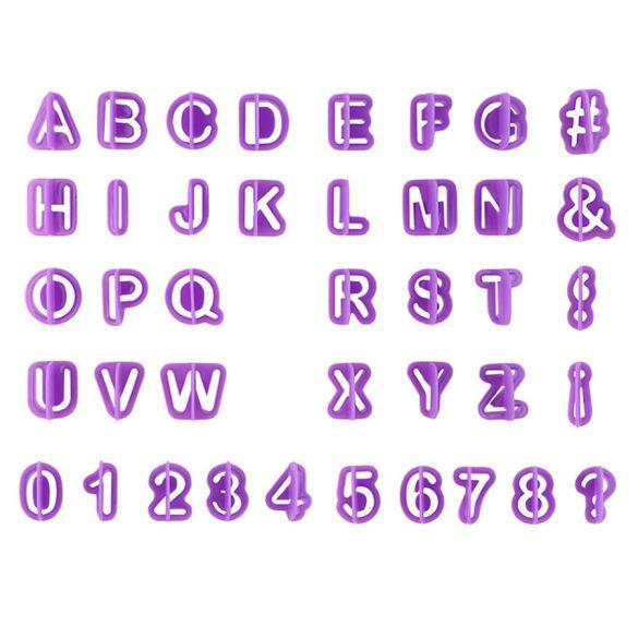 40 darabos műanyag kiszúró szett – Betűk és számok