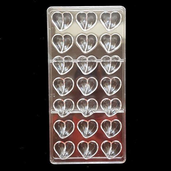 Polikarbonát bonbon forma – Szív, szívecske