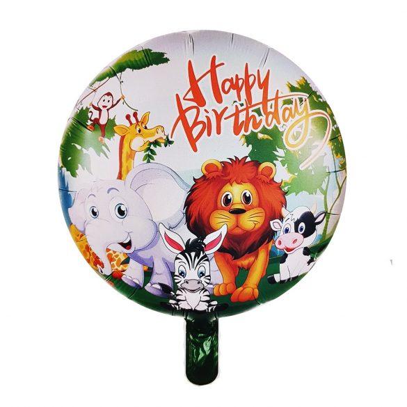 Fólia lufi – Happy Birthday - Állatok