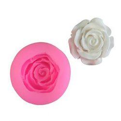 1 darabos rózsa mintájú szilikon fondant és marcipán mintázó