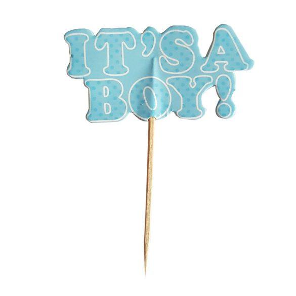 12 darabos sütemény beszúró – It's a boy