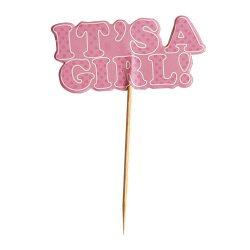 12 darabos sütemény beszúró - It's a girl