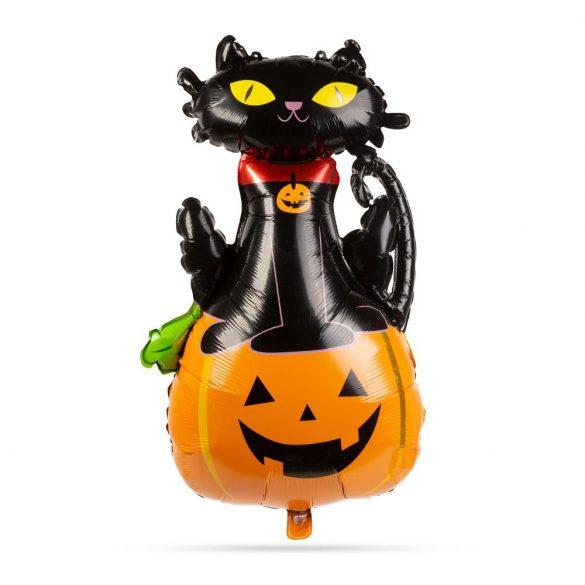 Halloween-i fólia lufi – Macska és tök
