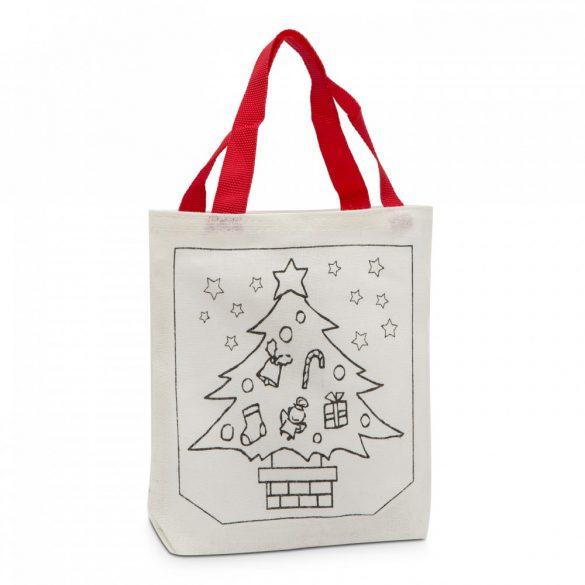 Színezhető karácsonyi szatyor, táska – Fenyőfa