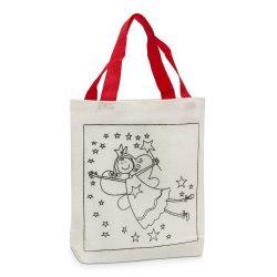 Színezhető karácsonyi szatyor, táska – Angyalka