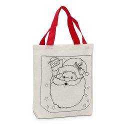 Színezhető karácsonyi szatyor, táska – Télapó
