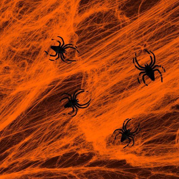 Narancssárga színű pókháló pókokkal
