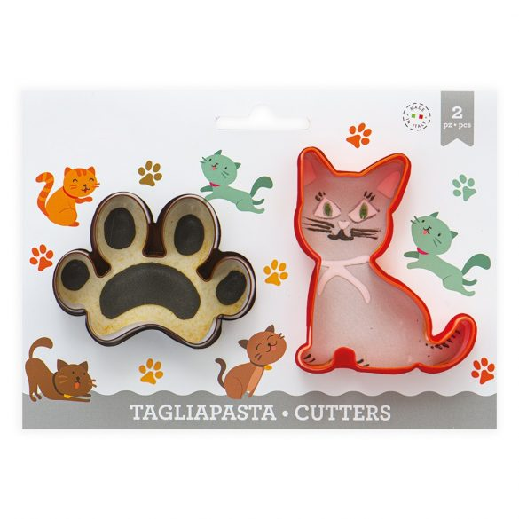 2 darabos műanyag süteménykiszúró – Macska és tappancs