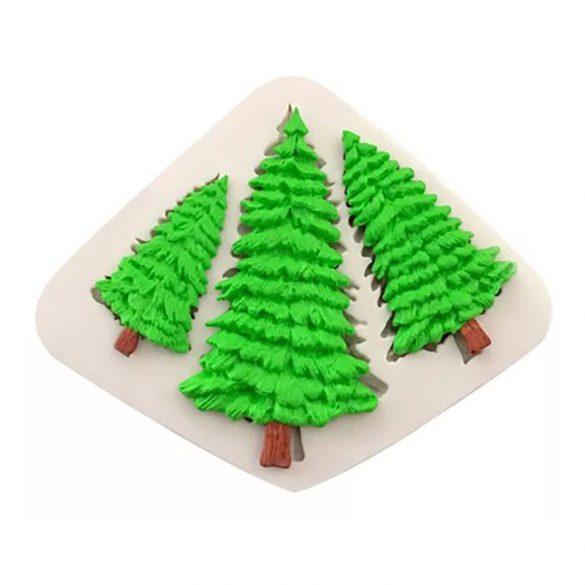 Szilikon fondant és marcipán mintázó – Fenyőfa