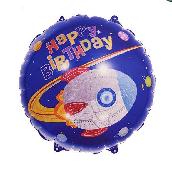 Fólia lufi – Happy Birthday - Űrhajó