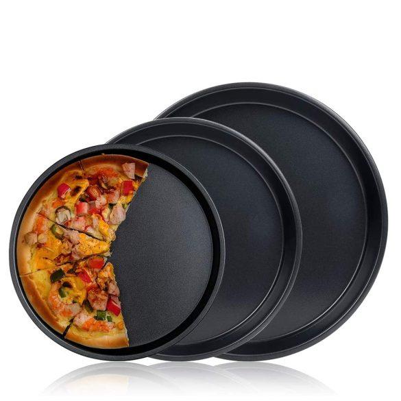 3 darabos pizzasütő lap, pizzaforma