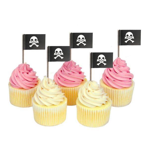 12 darabos sütemény beszúró – Halálfej, kalóz