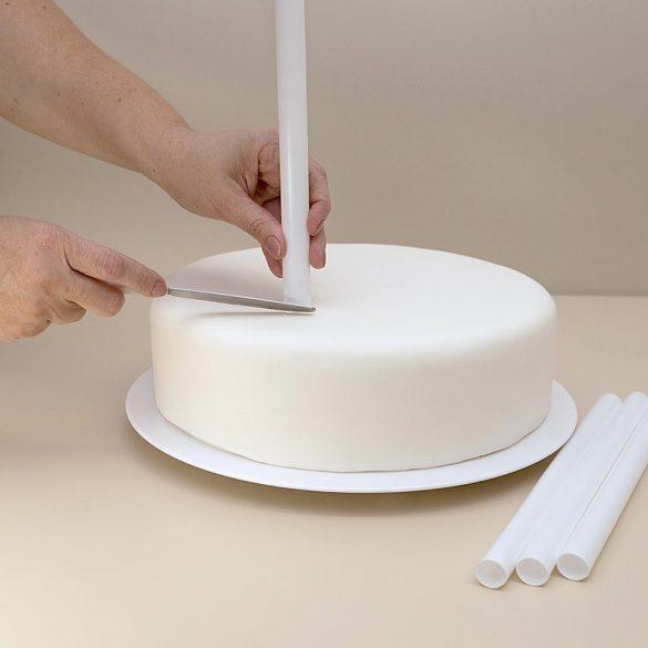 4 darabos tortatipli, tortapillér emeletes tortához