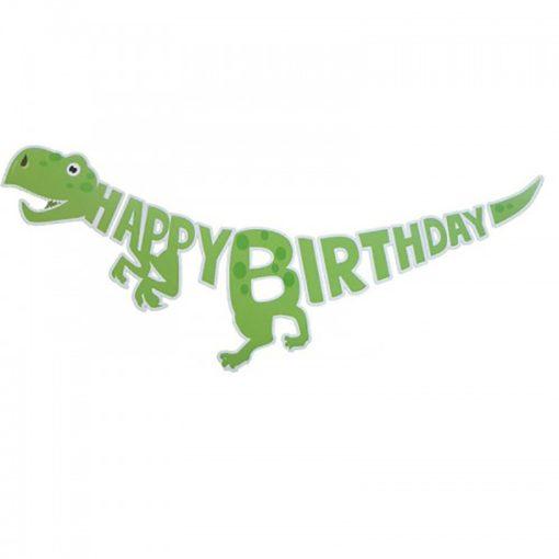 Happy Birthday party füzér – Dinoszauruszok, Dínó - Zöld