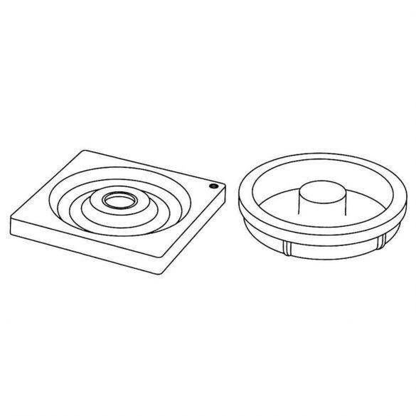 2 darabos szilikon forma – Spirál – Hula