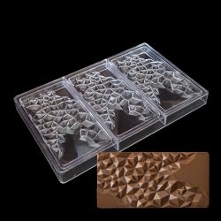 Polikarbonát forma – Táblás csokoládé – Gyémánt mintás csokoládé
