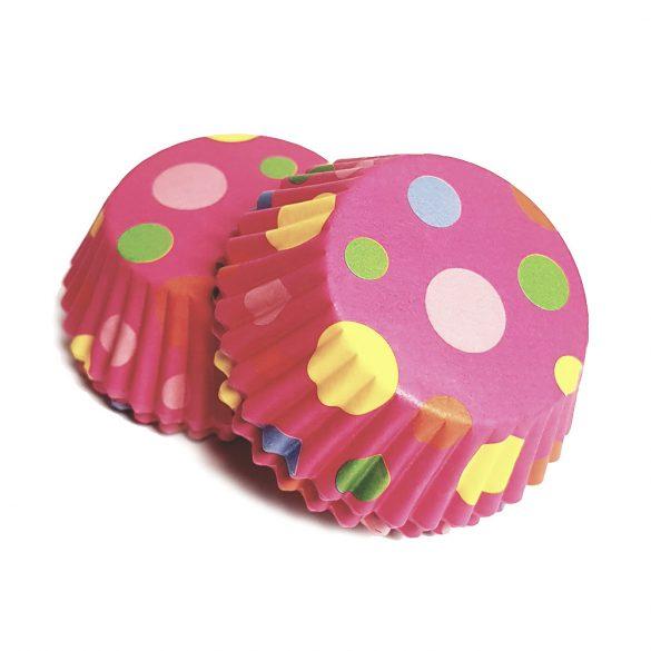 100 darabos muffin papír – Pöttyös