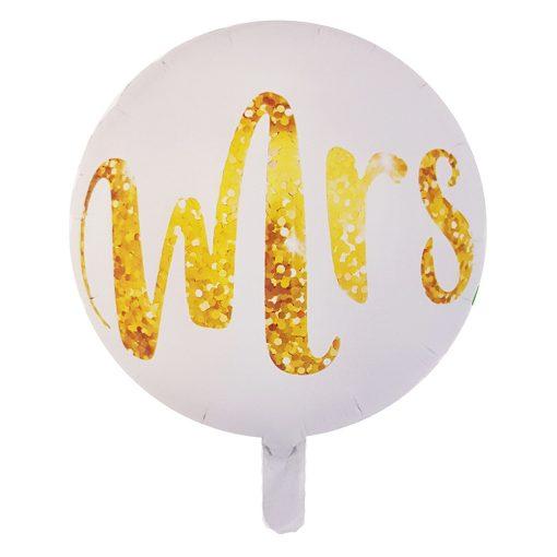 Kör alakú fólia lufi – MRS - Esküvő