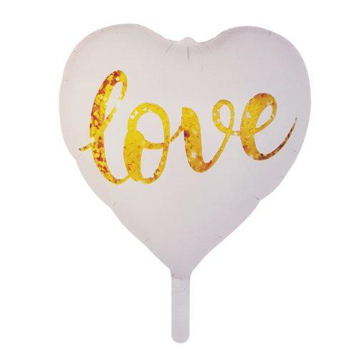 Szív alakú fólia lufi – LOVE