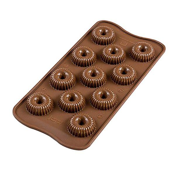 Szilikon bonbon, csokoládé forma – Mini fánk