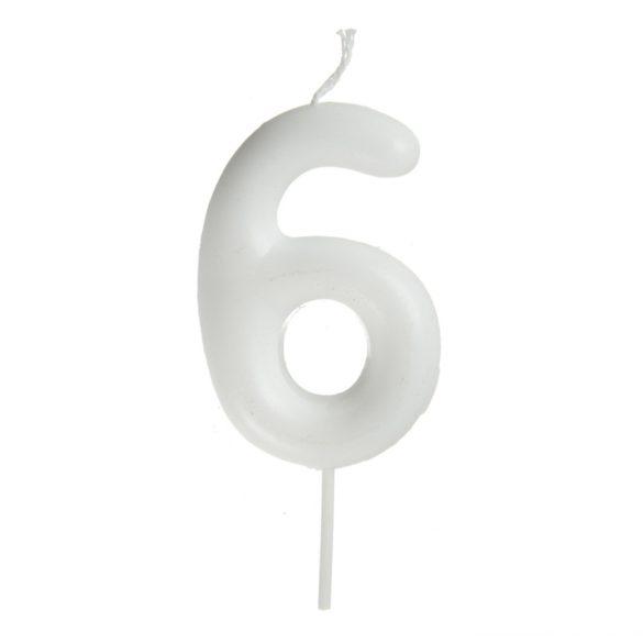 Fehér számgyertya – 6