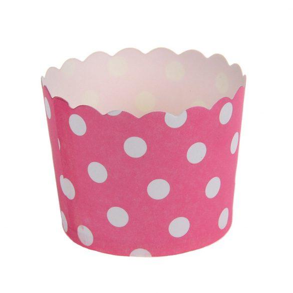 12 darabos muffin papír, cupcake papír – Rózsaszín
