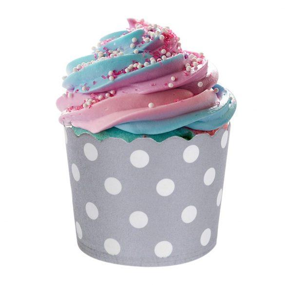 12 darabos muffin papír, cupcake papír – Ezüst
