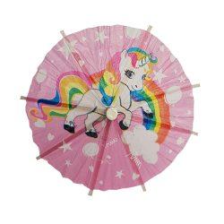 10 darabos koktél esernyő – Unikornis