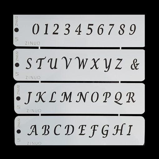 Torta sablon, stencil – Betűk és számok (ZN632)