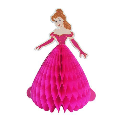 Méhsejt dekoráció, torta dekoráció – Hercegnő - Rózsaszín