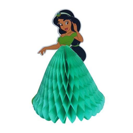 Méhsejt dekoráció, torta dekoráció – Hercegnő - Zöld