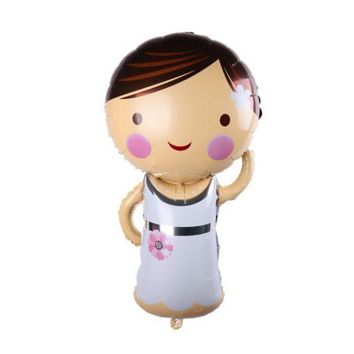 Fólia lufi – Esküvő – Menyasszony baba