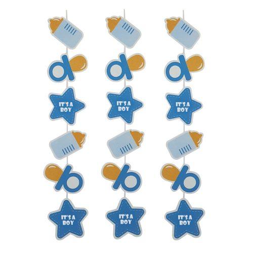 Babaváró, babaköszöntő dekoráció – Kék függő