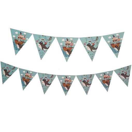Happy Birthday feliratú születésnapi banner – Kalózok