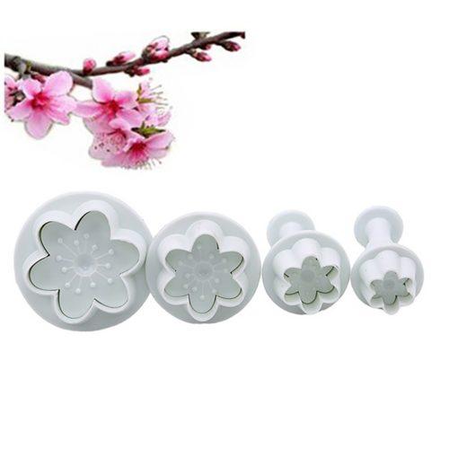 4 darabos rugós fondant és marcipán kiszúró – 6 szirmú virág