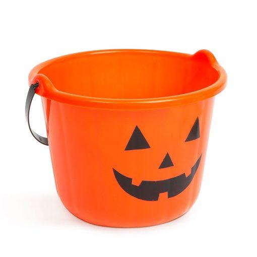 Halloween-i tök minták műanyag vödör