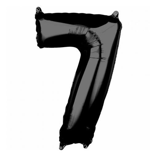 Óriás szám fólia lufi – 7 - Fekete