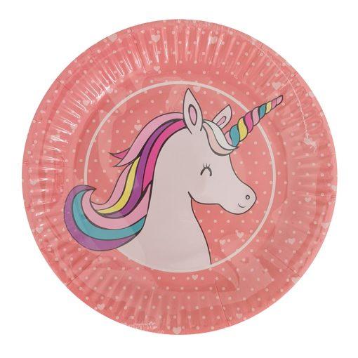 10 darabos papír tányér – Unikornis