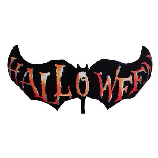 Halloween-i fólia lufi – Denevér halloween felirattal